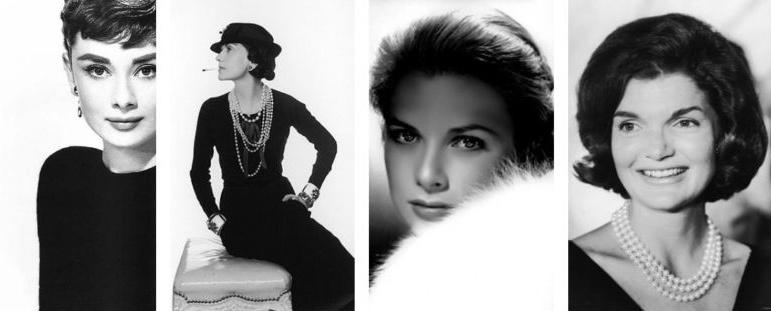 Icone di stile di ieri e di oggi.