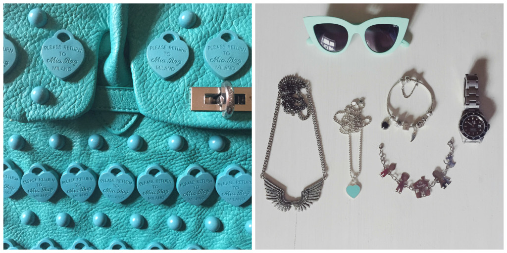 Bag Mia Bag, sunglasses OPS!, watch Rolex. Accessories Stradivarius, Tiffany&Co., Pandora and My Family.