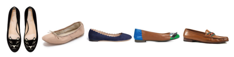 Scarpe indispensabili, ballerine e mocassini - Indispensable shoes, ballerinas and moccasins.