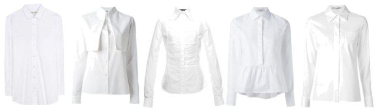 Indispensable clothing white shirt.