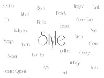 Tutti gli stili della moda - Fashion styles.