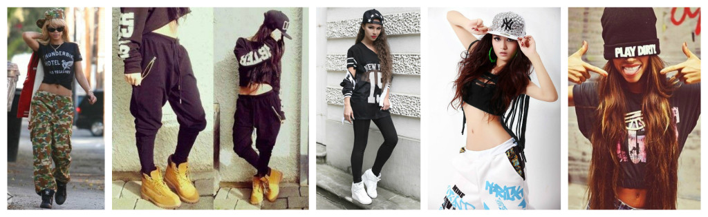 Rap and Hip Hop fashion styles.