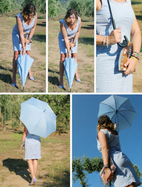 Summer outfit vichy pattern.