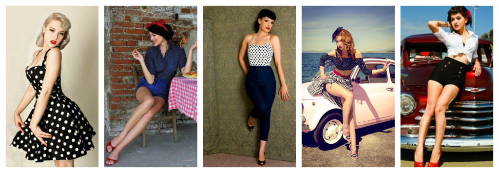 Pin Up fashion styles.