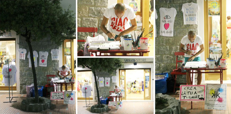 Magliette personalizzate a mano da Tibidabo Store.