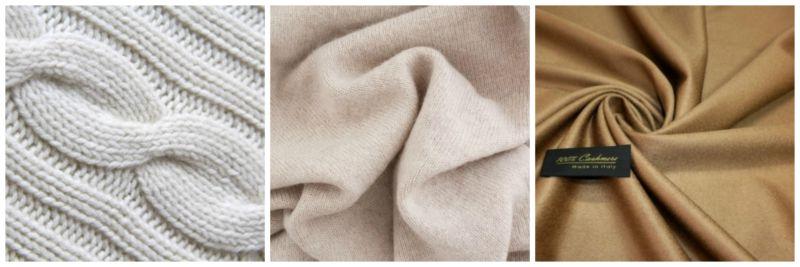 Fashion fabrics: cashmere.