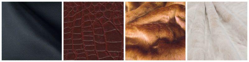 Tessuti ecopelle e ecopelliccia.