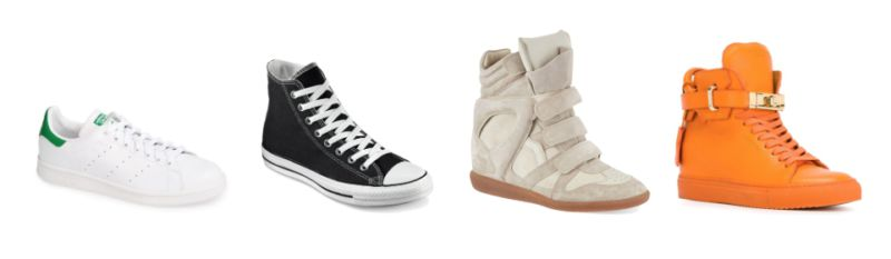 Adidas, Converse, Isabel Marant and Buscemi.