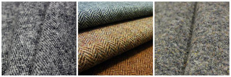Fashion fabrics: tweed.