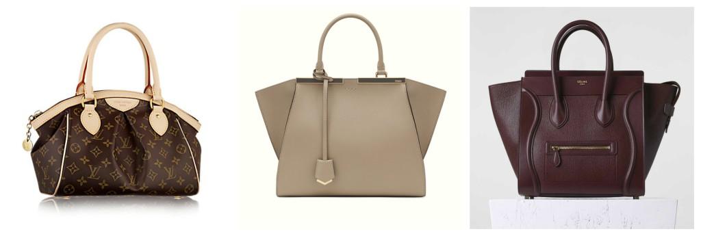 Louis Vuitton, Fendi and Céline.