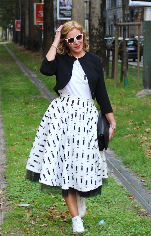 Look personalizzato Milano fashion week.