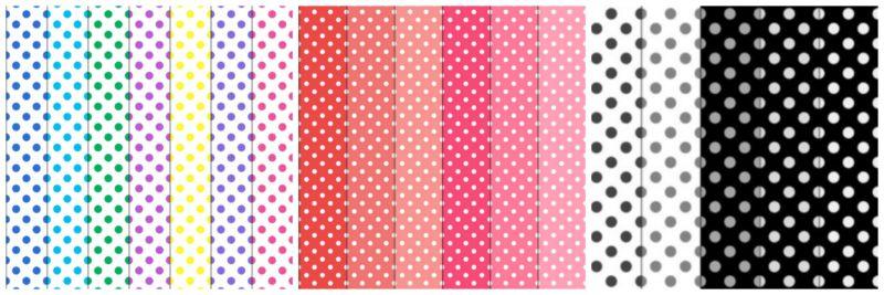 Polka dot pattern.