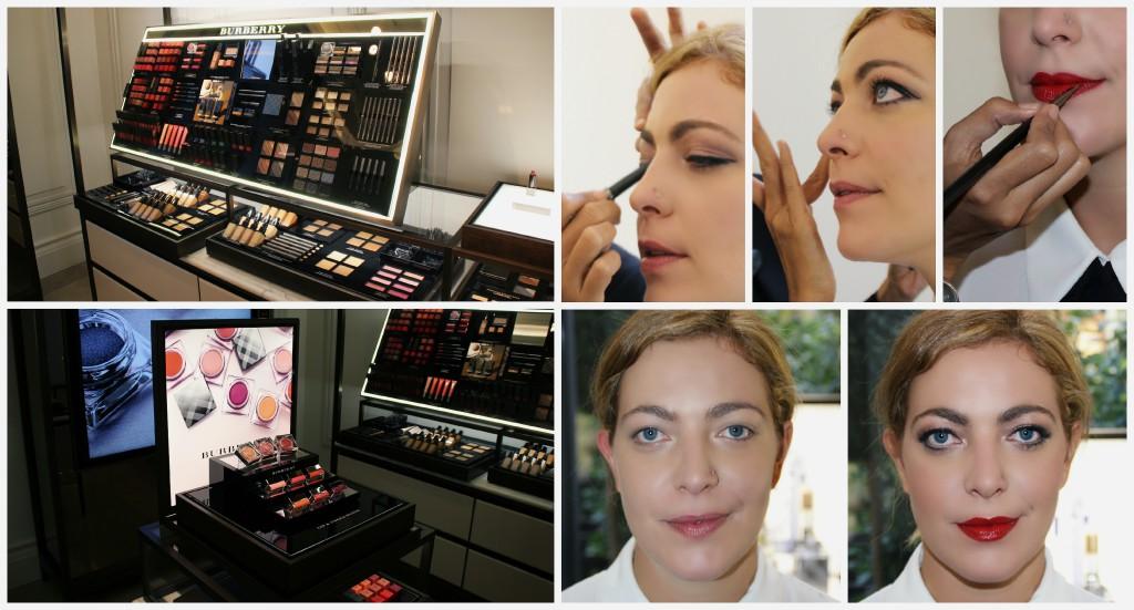 Burberry make-up Milan Fashion Week.
