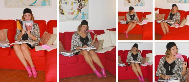 Studiare moda sui libri.