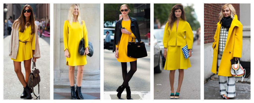 Colori e moda, ispirazioni in giallo.