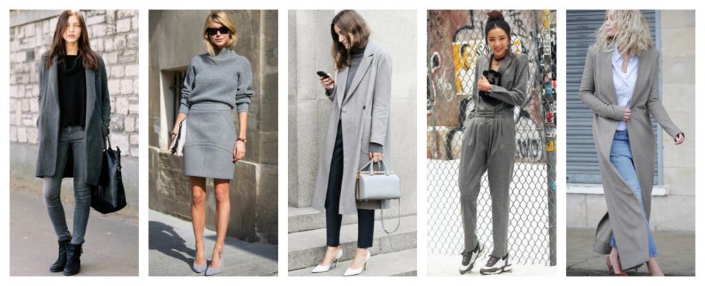 Colori e moda, ispirazioni in grigio
