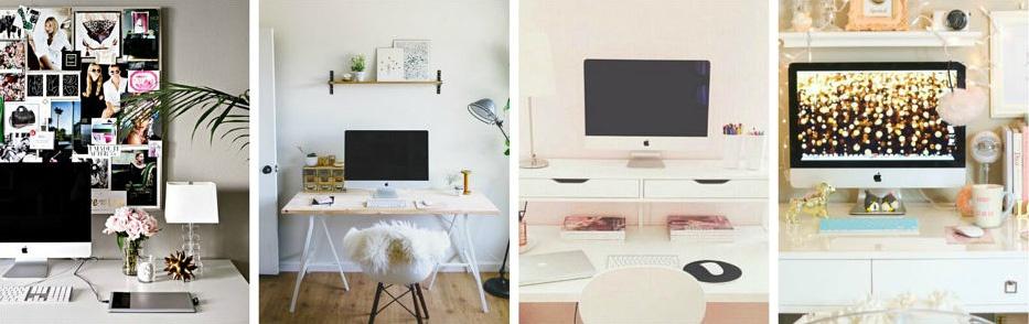 Fashion blog office ideas.