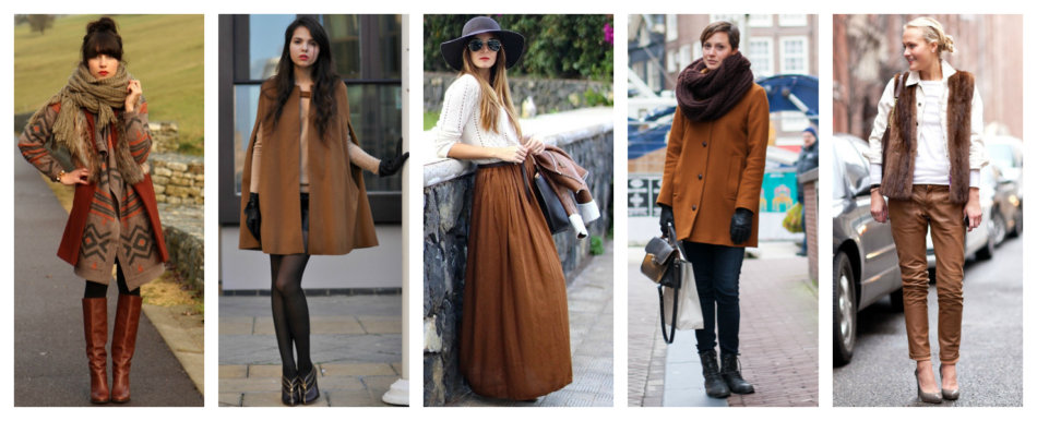 How to wear brown color.