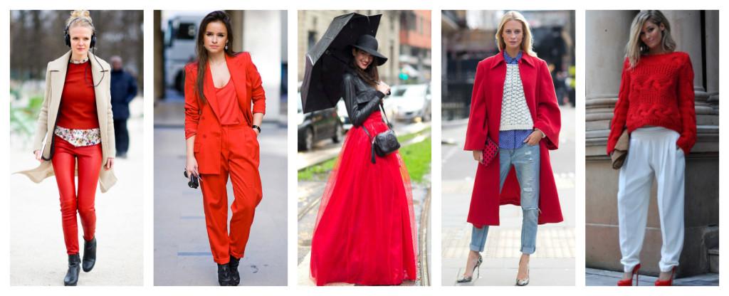 Colori e moda, ispirazioni in rosso