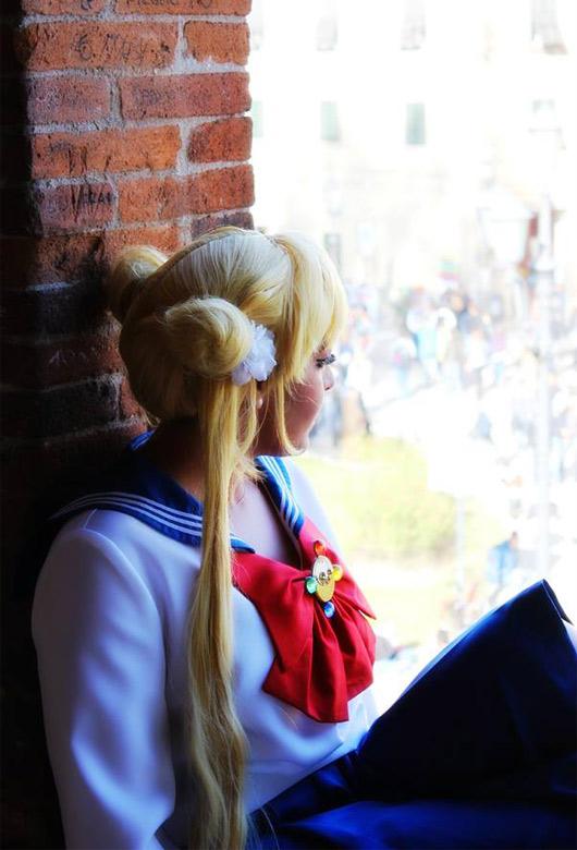 Sailor Moon cosplay.