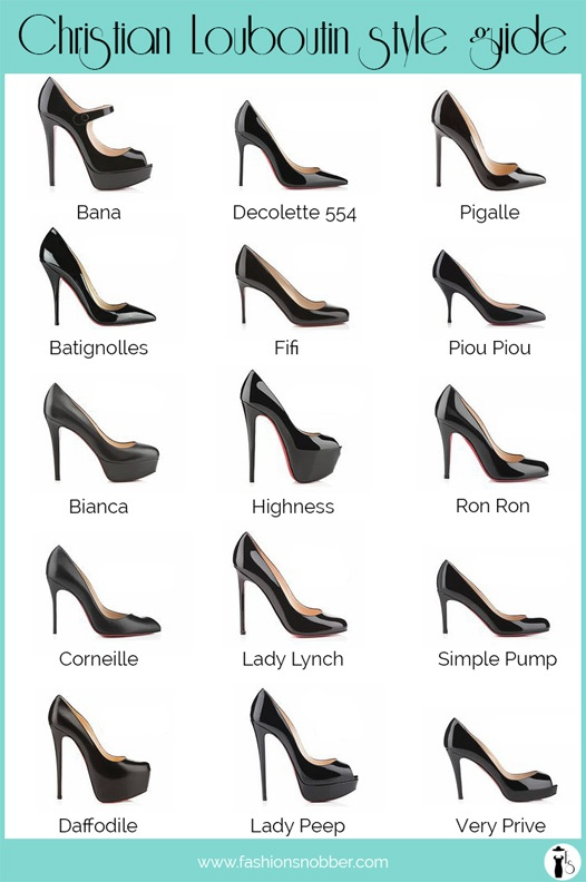 Christian Louboutin heels style guide.