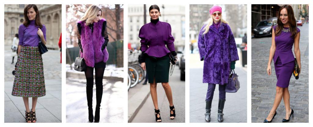 Colori e moda, ispirazioni in viola.