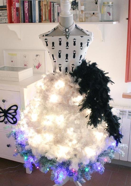 Abito albero di Natale - Christmas tree dress.