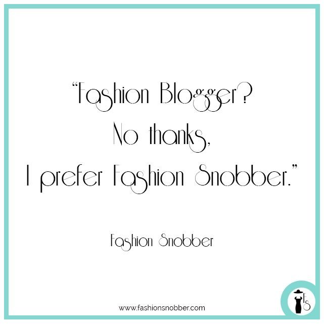Fashion blogger phrases.