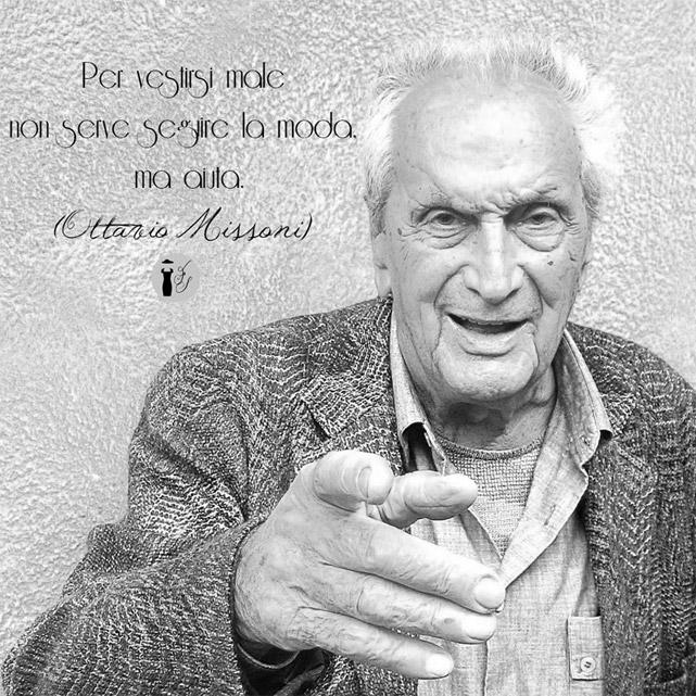 Frase celebre Ottavio Missoni.