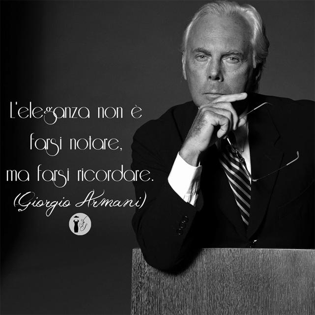 Frasi celebri Giorgio Armani.
