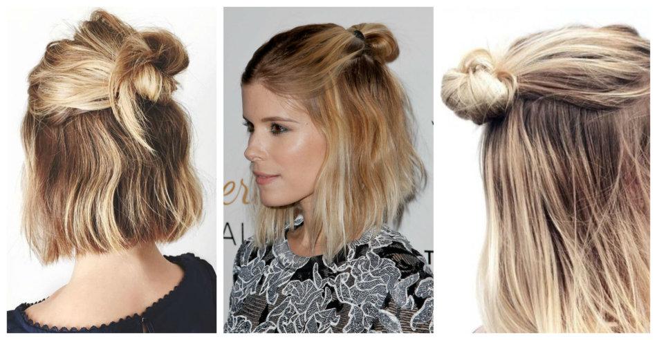 Half Bun hairstyle inspirations.