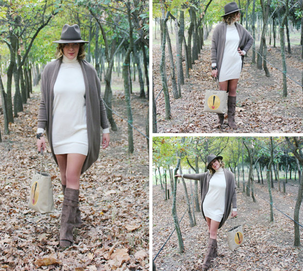 Outfit cardigan e mini dress - Mini dress and cardigan outfit.