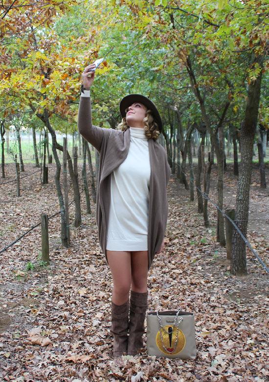 Outfit cardigan oversize e mini dress - Mini dress and oversize cardigan outfit.