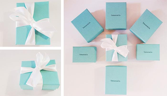 Come riconoscere packaging originale gioielli Tiffany & Co.