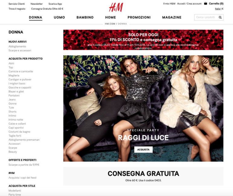 H&M brand low cost.