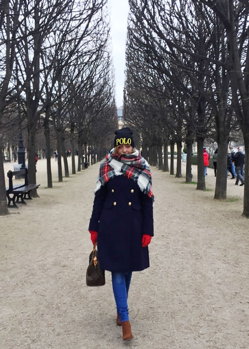 Winter outfit in Paris.
