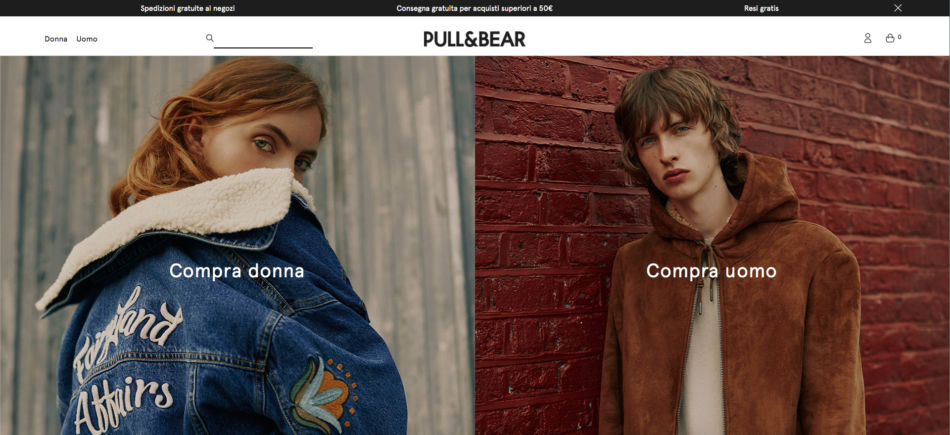 Pull&Bear brand low cost.