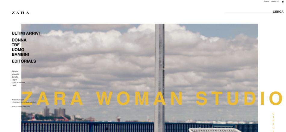 Zara brand low cost shop online.