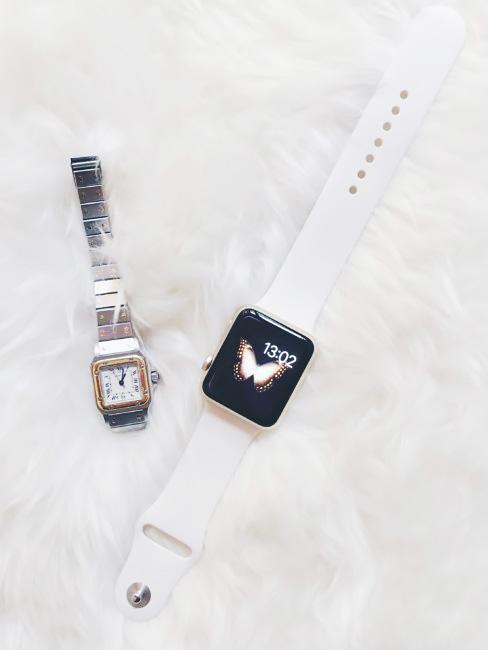 Orologio Cartier e smartwatch.