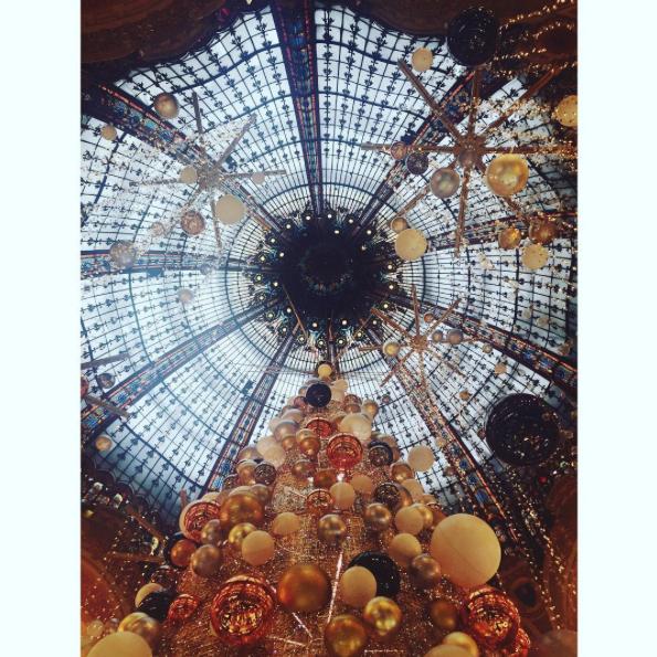 Galeries Lafayette Paris. Christmas style.