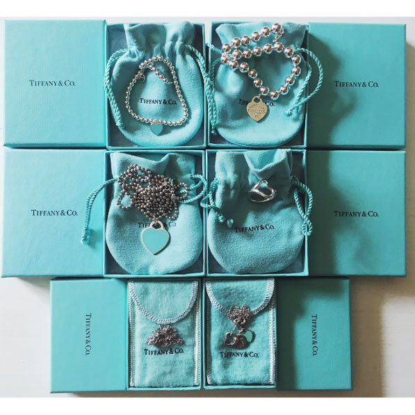 Tiffany & Co flat lay.