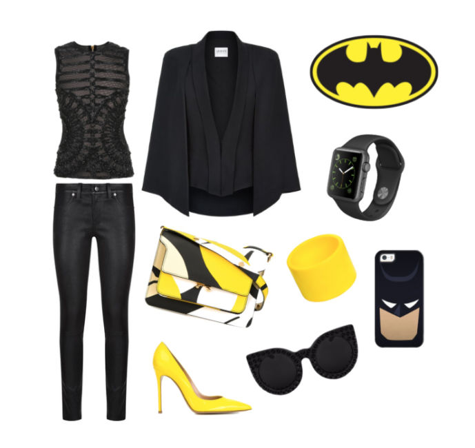 Batman inspiration style outfit.