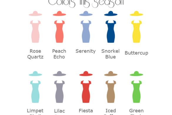 Colori di tendenza primavera estate 2016 - Trendy colors spring summer 2016.