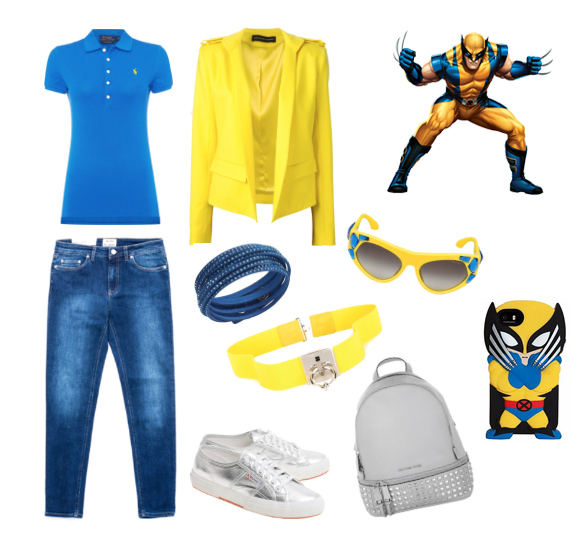 Wolverine inspiration style outfit.