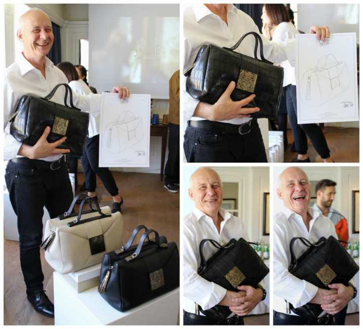 Andrea Calistri e la sua Boston Bag della Heritage collection by Sapaf Atelier.