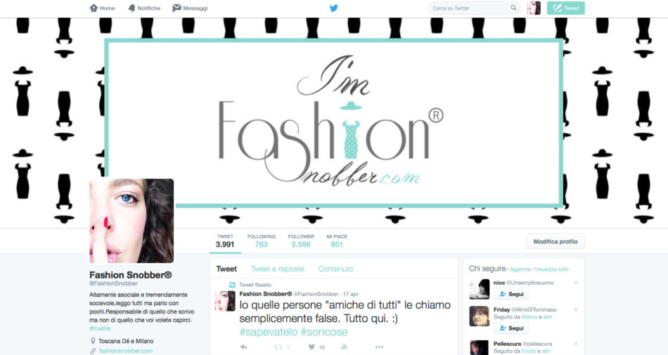 Home Page Twitter Fashion Snobber.