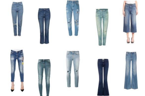 10 modelli di jeans che non passano mai di moda - 10 models of jeans that never go out of fashion.