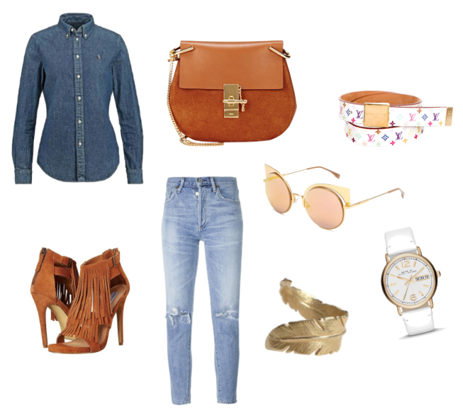 Camicia di jeans outfit idea - Denim shirt outfit idea.