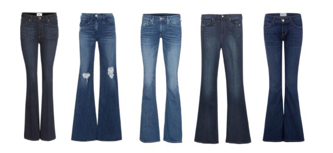 Bell Bottom Jeans.