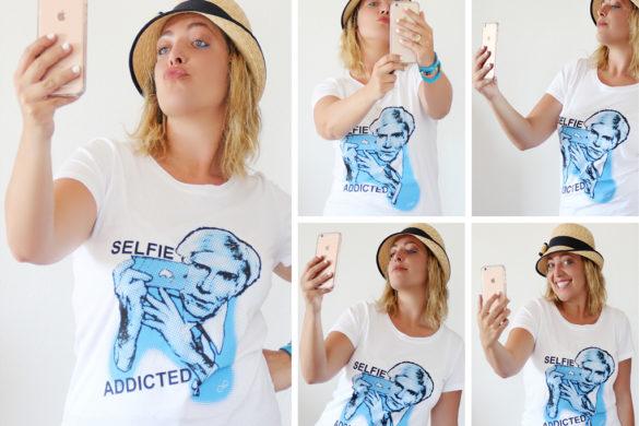 Selfie Addicted t-shirt by Iolanda Corio.